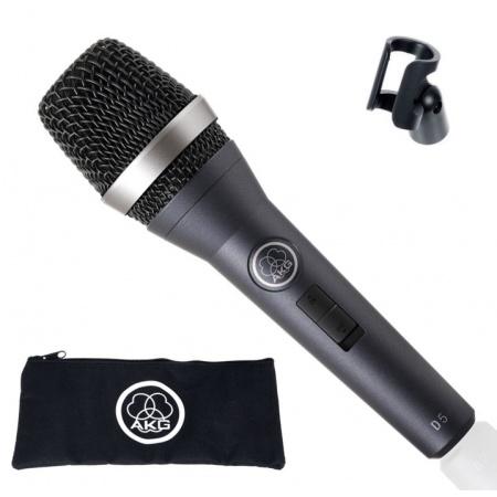 AKG D5 S - mikrofon dynamiczny superkardioidalny z wyłącznikiem