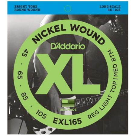 D'ADDARIO EXL 165 45/105 - struny gitara basowa