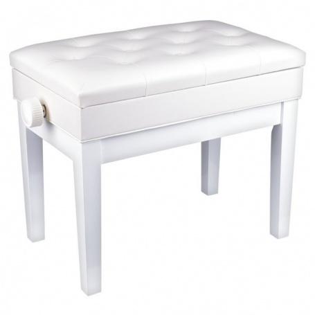 MS ŁAWA 2 WH ława do pianina biały mat otwierane siedzisko