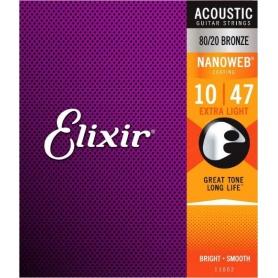 ELIXIR 11002 NW 10-47 struny gitara akustyczna