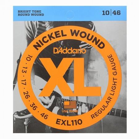 D'ADDARIO EXL110 Regular Light 10/46 - struny do gitary elektrycznej