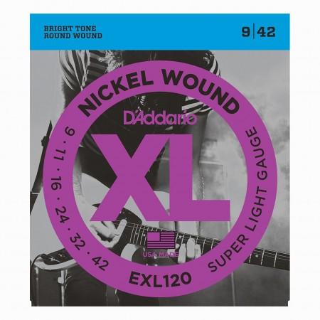 D'ADDARIO EXL120 Super Light 9/42 - struny do gitary elektrycznej
