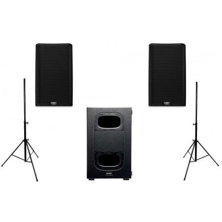 QSC 2X K12.2 + KS212C SUB - zestaw nagłośnieniowy/statywy gratis