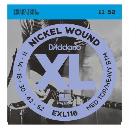 D'ADDARIO EXL116 Med top/Heavy btm 11/52 - struny do gitary elektrycznej