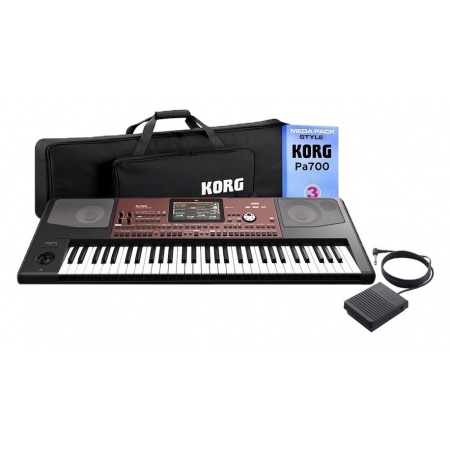 KORG PA700 MP3 - style pack + pokrowiec + kontroler nożny PS3