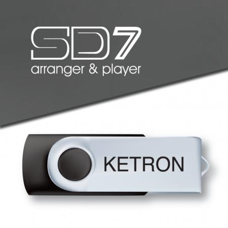 KETRON Pendrive 2016 SD7 Style Upgrade v1 - pendrive z dodatkowymi stylami