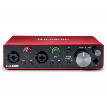 FOCUSRITE Scarlett 2i2 3rd Gen - interfejs audio USB