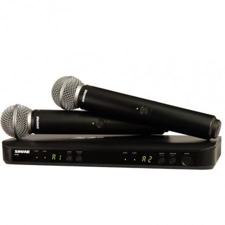 SHURE BLX288/SM58 - mikrofon bezprzewodowy podwójny