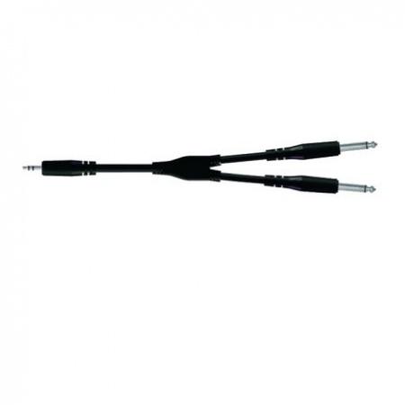 PROEL BULK505LU3 kabel mini jack stereo-2x jack 3,5mm mono 3m