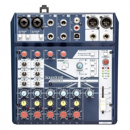 SOUNDCRAFT NOTEPAD 8FX - Mikser USB Procesor Lexicon